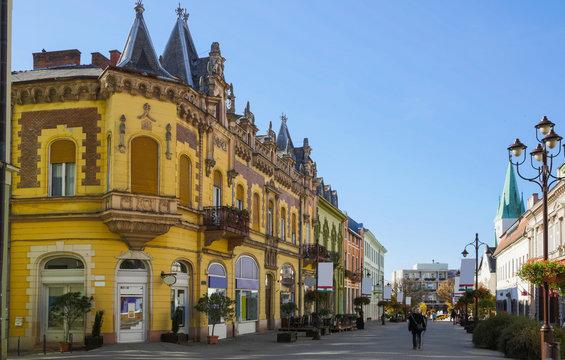 Street of Kaposvar, Hungary