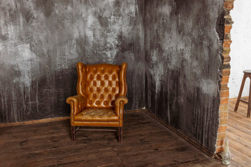 Keuken foto achterwand Retro chair in empty room