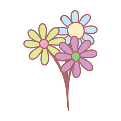 Wall Mural - bunch of flowers botanical decoration cute