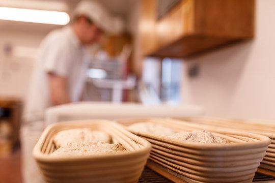 Brot Korb in der Backstube