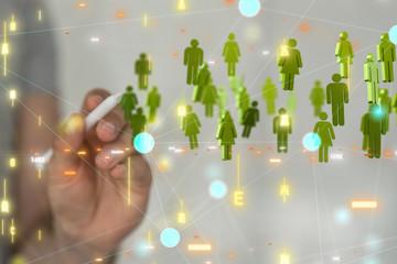 Social Networking illustration team group digital