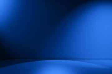 Beams of spotlight on a royal blue background