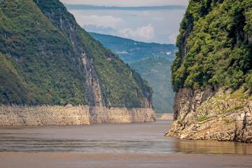 Deep vertical canyon walls of the Shennong Xi Stream