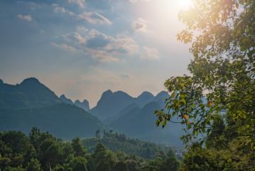 Xianggong Hill viewpoint view of Yangshuo landscape