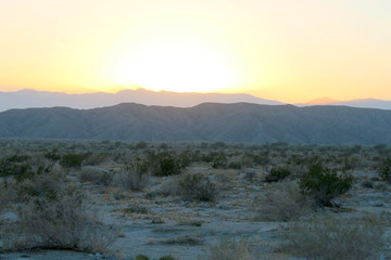 a desert mountain sunset the california sun