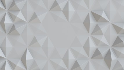 Fotobehang - white abstract tiles polygonal 3d background