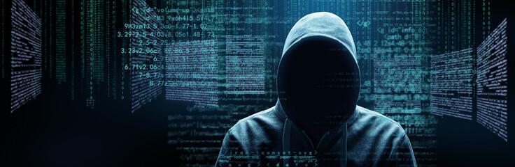 Hacker - Cyber Kriminalität Fotobehang