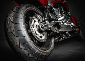 Motorrad mit breiten Reifen Chopper Fototapete