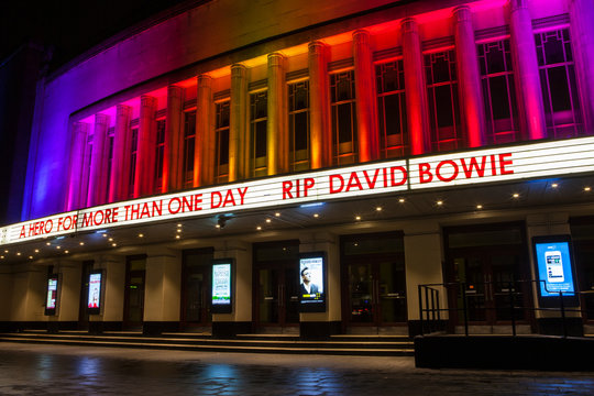 RIP David Bowie at the Hammersmith Apollo in London, UK