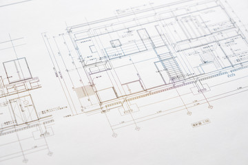 【写真素材】設計イメージ 建築図面 住宅 施設