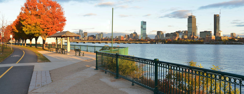 Boston From Cambridge, Pano