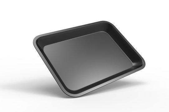 Blank rolling tray for branding, 3d render illustration.