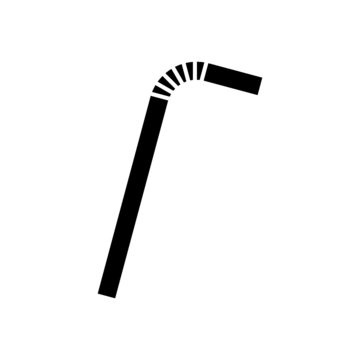 Drinking plastic straw icon isolated on white background