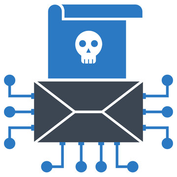 Identity theft using spam emails and virus attacks concept,  dangerous spoofing message vector Icon design