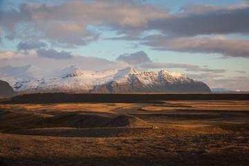 Fotorollo Dunkelgrau Icelandic Landscape