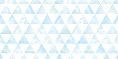 Watercolor geometric background. Seamless pattern.Vector. 水彩幾何学パターン