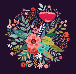Fototapete - Beautiful romantic flower spring bouquet