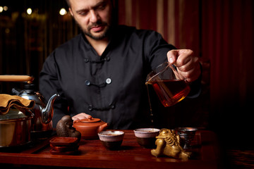 Tea ceremony. The traditional way of making tea.