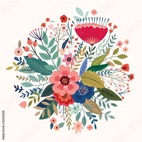 Fototapete Beautiful romantic flower spring bouquet