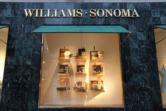 NEW YORK, USA - JULY 2, 2013: Williams-Sonoma Manhattan, New York. Williams-Sonoma is an American home furnishings and kitchenware store chain with 600 retail stores.