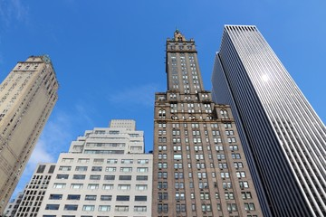 NEW YORK, USA - JULY 2, 2013: Fifth Avenue skyline in New York. It is one of most expensive real estate areas in the world.