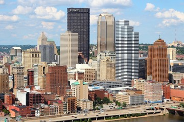 PITTSBURGH, USA - JUNE 29, 2013: Skyline view of Pittsburgh. It is the 2nd largest city of Pennsylvania with population of 305,841.
