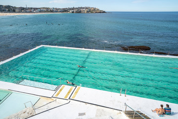 Wall Mural - swimming pool beside the sea