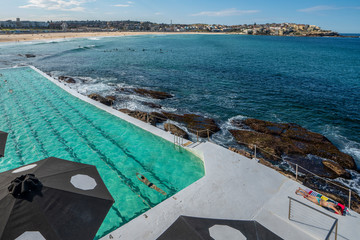 Wall Mural - swimming pool beside the sea, sydney beach, nsw