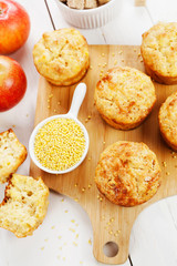 Millet muffins with apple