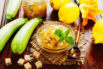 Zucchini jam with lemon