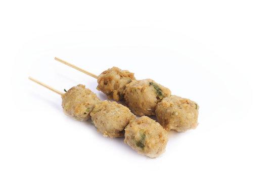 yakitori boulette de poulet