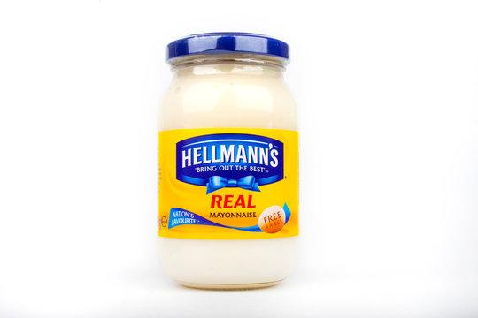 Jar of Hellmanns Mayonnaise