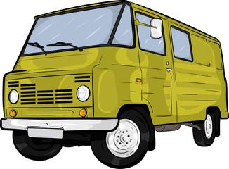 Obraz polski klasyk,samochód, kreskówkowy samochód,prl,żuk,cartoon car - fototapety do salonu