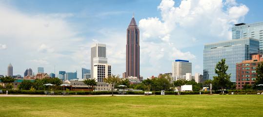 Panoramic city skyline of Atlanta, Georgia, United States