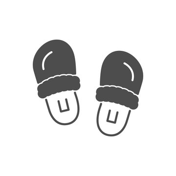 Slippers or home footwear icon