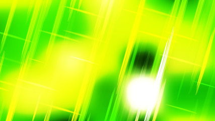 Wall Mural - Abstract Green and Yellow Futuristic Tech Glowing Stripes Background
