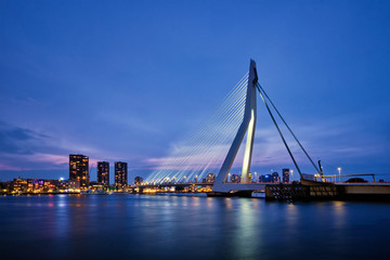 Photo Blinds Rotterdam Erasmus Bridge, Rotterdam, Netherlands