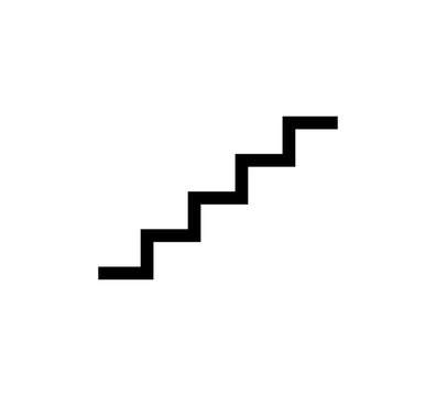 Stairs Icon Logo Vector Illustration