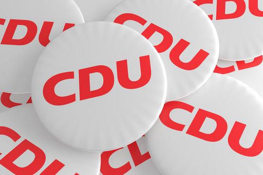 Pile of CDU Buttons, 3d illustration
