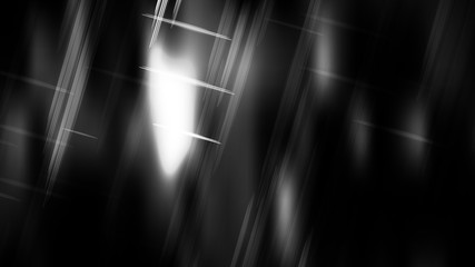 Wall Mural - Abstract Black and White Futuristic Tech Glowing Stripes Background Image