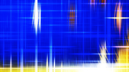Wall Mural - Futuristic Glowing Blue Yellow and White Light Lines Stripes Background