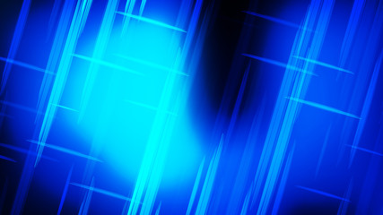 Wall Mural - Abstract Cool Blue Futuristic Tech Glowing Stripes Background