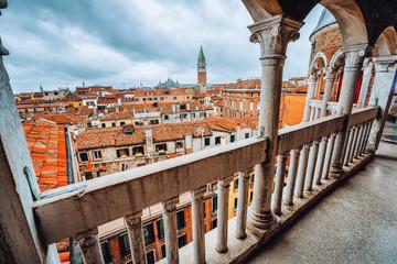 Venice, Italy. View from top roof of Palazzo Contarini del Bovolo also called the Palazzo Contarini Minelli dal Bovolo