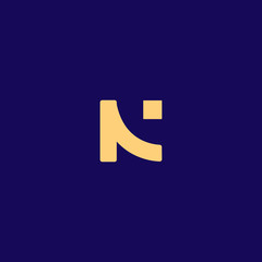 Creative Innovative Initial N logo and NN logo. N Letter Minimal luxury Monogram. Professional initial design. Premium Business typeface. Alphabet symbol and sign.