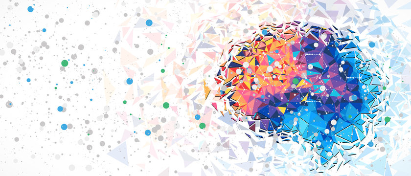 Abstract human brain. Artificial intelligence technology. Science background