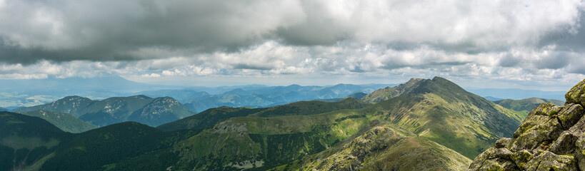 Wall Mural - Panoramic view on Low Tatras mountains