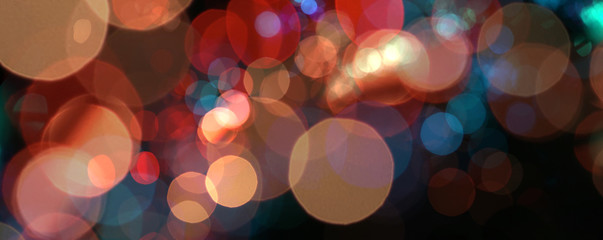 Abstract de-focus soft blinking circle background.