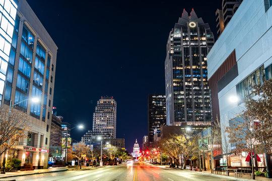 The skyline in the city of Austin, Texas.