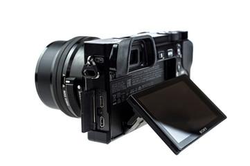 Brilon, North Rhine Westphalia / Germany - February 5th 2020: Sony Alpha 6000 digital camera photographed in the studio. Illustrative editorial.