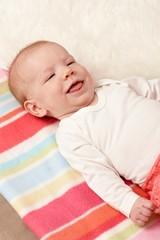 Closeup smiling baby
